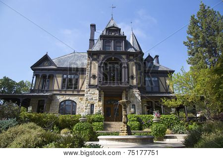 The historical Rhine House at Beringer Vineyards in Napa Valley