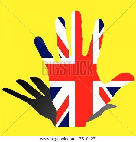 United Kingdom UK flag, vector