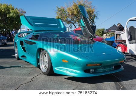 Vector Avtech Wx-3 At The Supercar Sunday Electric Vehicle