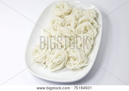 Boiled Thai Rice Vermicelli, Usually Eaten With Spicy Curries
