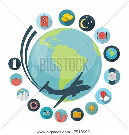Travel Flat Concept Vector Illustration