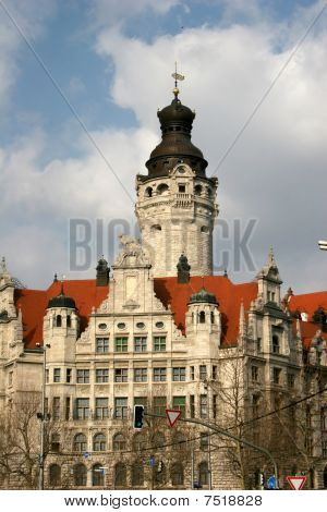 Neues Rathaus (new town hall) in Leipzig, Germany