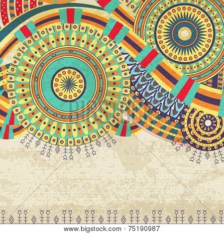 Attractive Ethnic Background Design