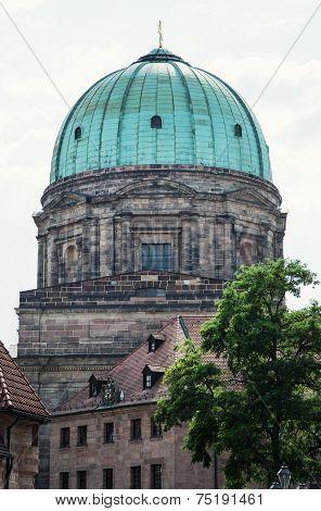 Elisabeth Church Dome In Nuremberg