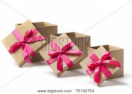 Open Gift Boxes - Stock Image