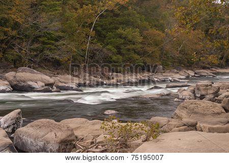 Tygart River In Autumn