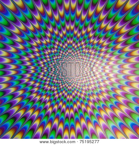 Optical Illusion, Moving Effect Made By Shapes And Colors.