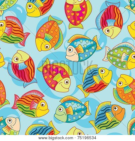 bright joyful fishes
