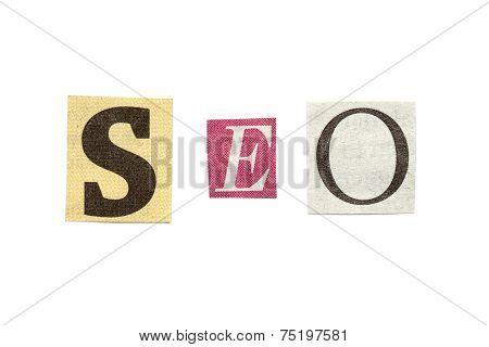 Seo, Cutout Newspaper Letters
