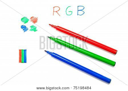 Rgb Color In Pens, Written And Drawn