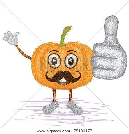 Pumpkin Mustache