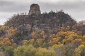 picture of winona  - A rock formation on top of a hill during autumn - JPG
