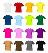 image of t-shirt red  - colorful man t - JPG