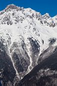 stock photo of oz  - Mountain around the Oz en Oisans Station in the French Alps - JPG