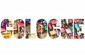 foto of koln  - Word COLOGNE Thousands of love locks - JPG