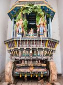 foto of chariot  - A chariot for the temple deity in Melkote, South India.