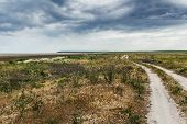 image of steppes  - The steppe road to the sea - JPG