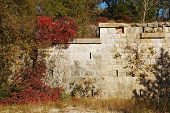 foto of world war one  - A blockhouse type World War One fortification in the Carso a Karst limestone area in Friuli Italy - JPG