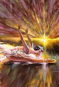 image of tchaikovsky  - The ballerina soaring against the coming sun - JPG