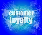 image of loyalty  - Marketing concept - JPG