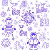 pic of eskimos  - Winter print with Eskimo - JPG