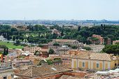 foto of emanuele  - Rome aerial view from Vittorio Emanuele monument - JPG