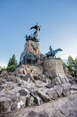 stock photo of mendocino  - Monument to the Army of the Andes at the top of the Cerro de la Gloria at the General San Martin Park inaugurated on February 12 1914 anniversary of the Battle of Chacabuco in Mendoza Argentina - JPG