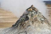 Geothermal Pile Of Sulphuric Rock