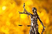 picture of judiciary  - Themis in spotlight  - JPG