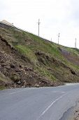 picture of landslide  - landslide after heavy storms on the west coast of Ireland - JPG