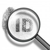 pic of fingerprint  - fingerprint ID through magnifying glass - JPG