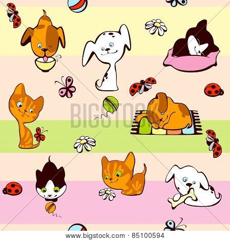 wallpaper cat and dog
