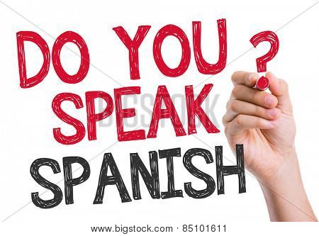 Do you speak Spanish written on the wipe board
