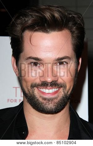 LOS ANGELES - MAR 7:  Andrew Rannells at the Raising The Bar To End Parkinsons Event at the Public School 818 on March 7, 2015 in Sherman Oaks, CA
