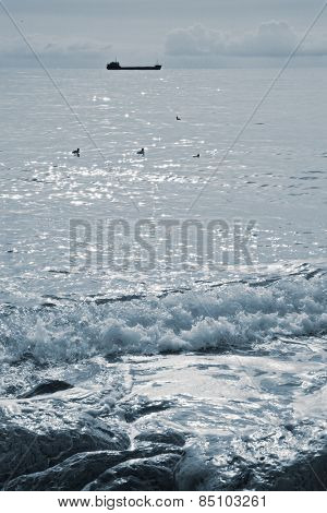 Black Sea in Crimea. country Ukraine