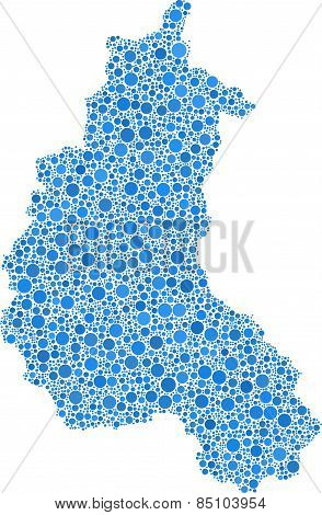 Map of Champagne - France -