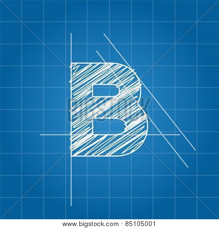 B letter architectural plan