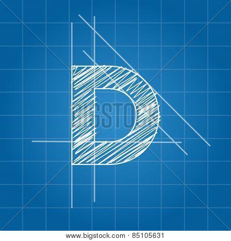D letter architectural plan