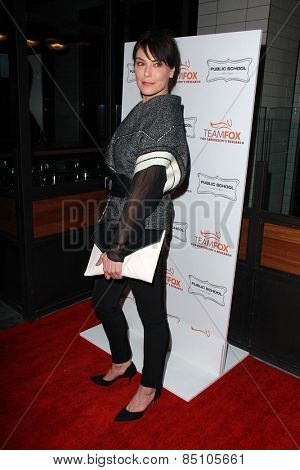 LOS ANGELES - MAR 7:  Michelle Forbes at the Raising The Bar To End Parkinsons Event at the Public School 818 on March 7, 2015 in Sherman Oaks, CA