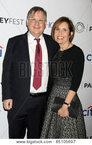 LOS ANGELES - MAR 7:  Robert King, Michelle King at the PaleyFEST LA 2015 -