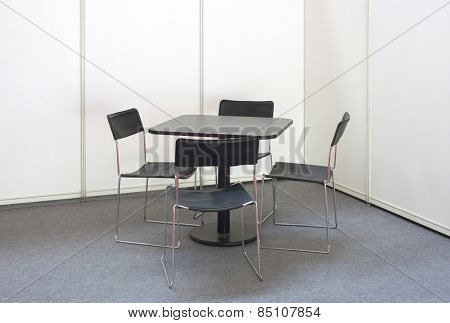 Simple Desk and Four Chairs
