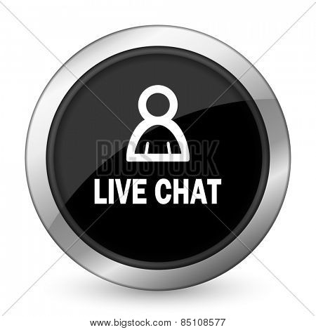 live chat black icon