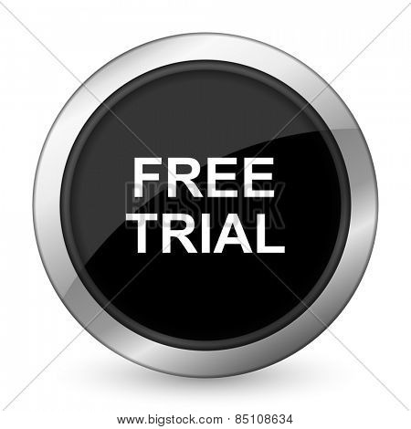 free trial black icon