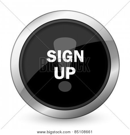 sign up black icon