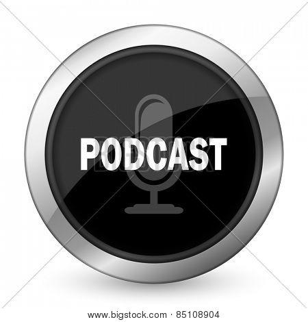 podcast black icon