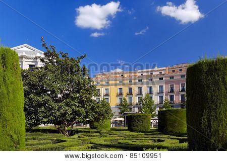 Park near Royal Palace - Madrid Spain