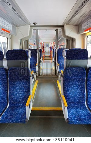 Interior of train - transportation travel background