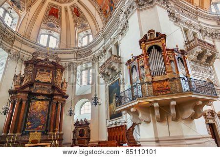 Cathedral at Salzburg Austria - religion art background