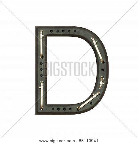 Alphabet Technically, Letter D