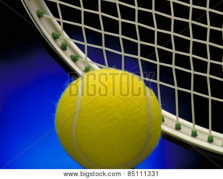 Tennis background concept.Tennis racket and ball.